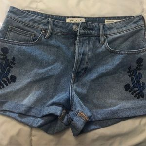 PacSun Cactus Embroidered Girlfriend Shorts